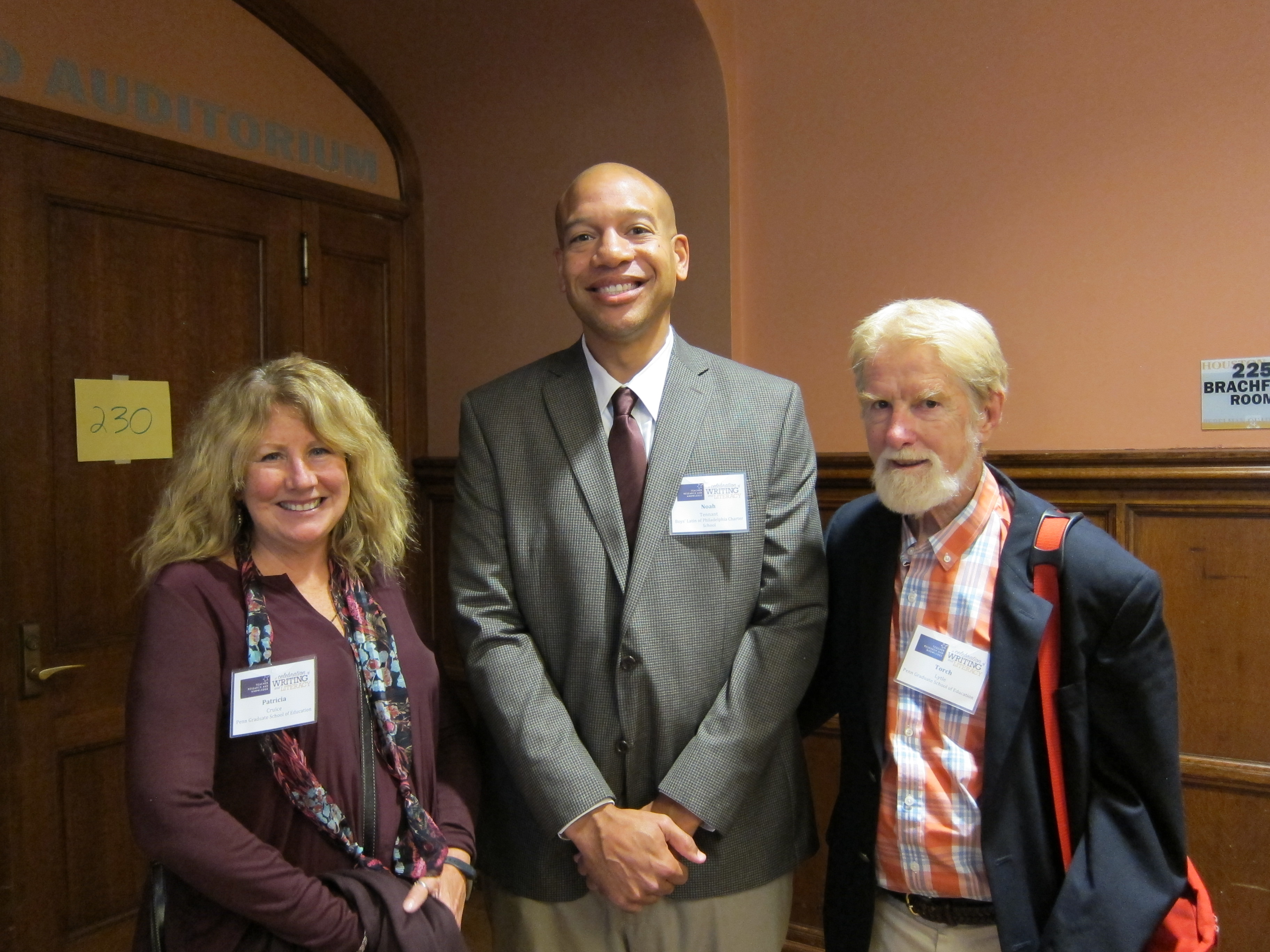 "Photo of edited volume contributors, Drs. Patricia Cruice, Noah Tennant, and co-editor, James ""Torch"" Lytle"